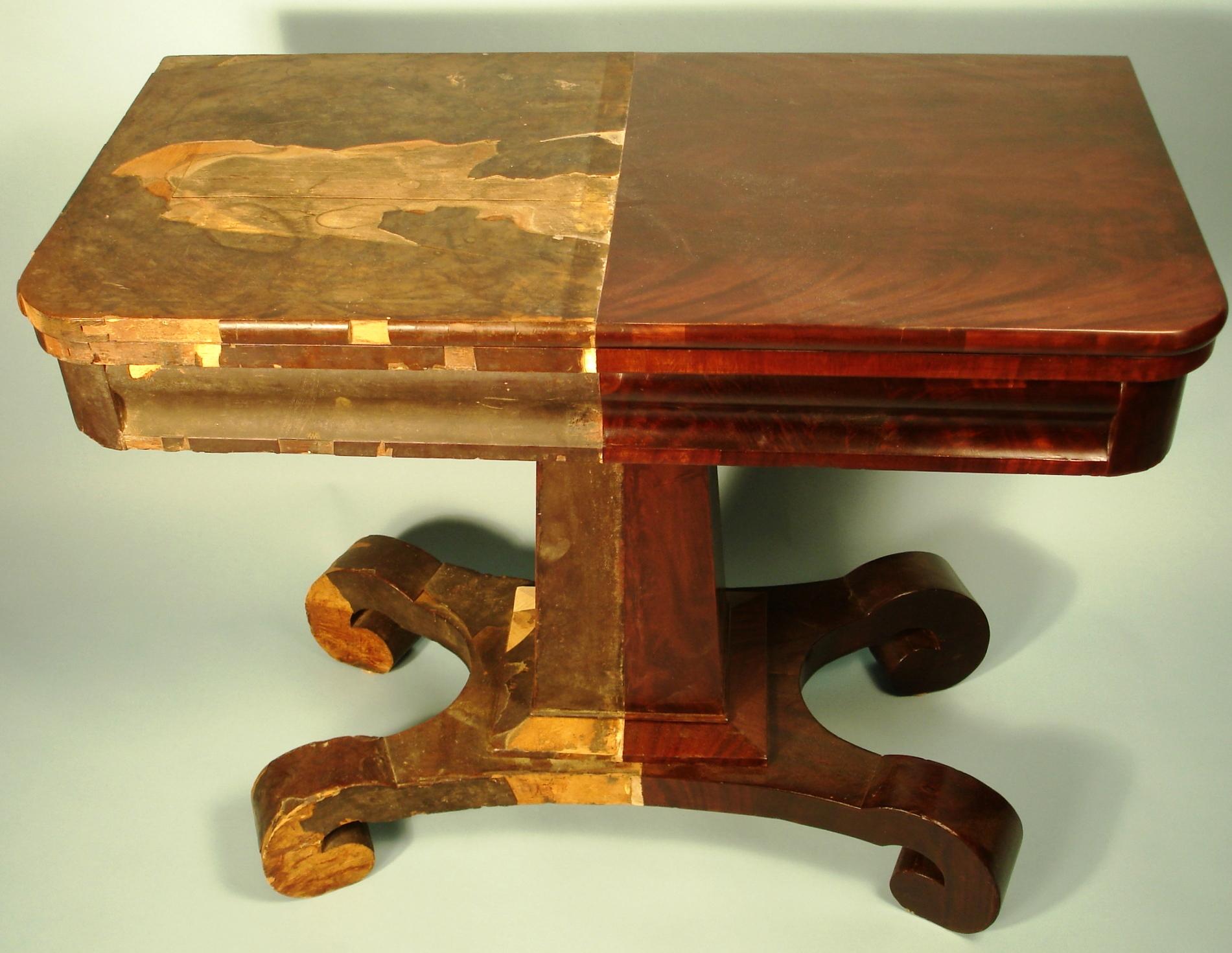 Mediniai baldai po ilgo naudojimo